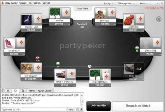 PartyPoker Holdem View